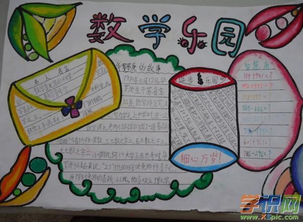 小学生六年级数学上册手抄报的样板
