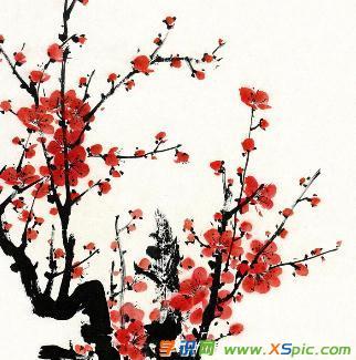 画中国画梅花的图片