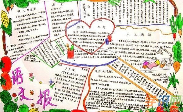【语文手抄报花边设计】一年级语文手抄报花边