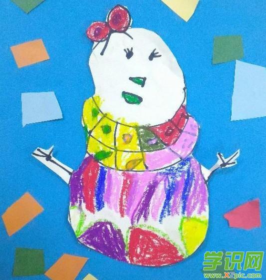 幼儿园有关冬天的画_幼儿园冬天图画作品