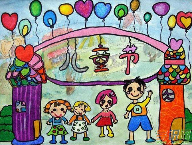 六一儿童节的画五年级图片