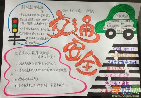 幼儿园交通安全手抄报图片大全(2)