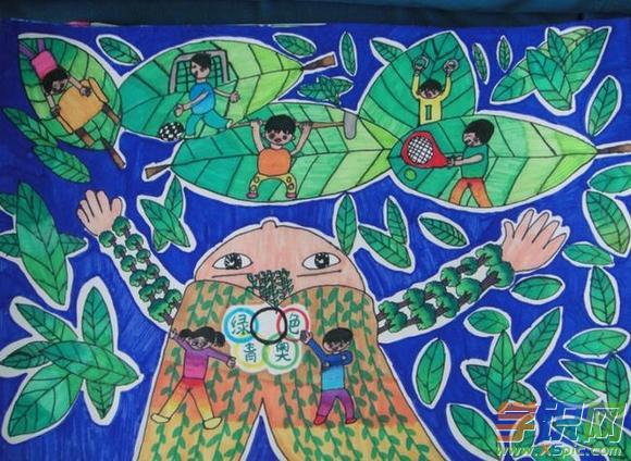 幼儿园环保绘画作品图片大全 幼儿环保主题画画图片图片