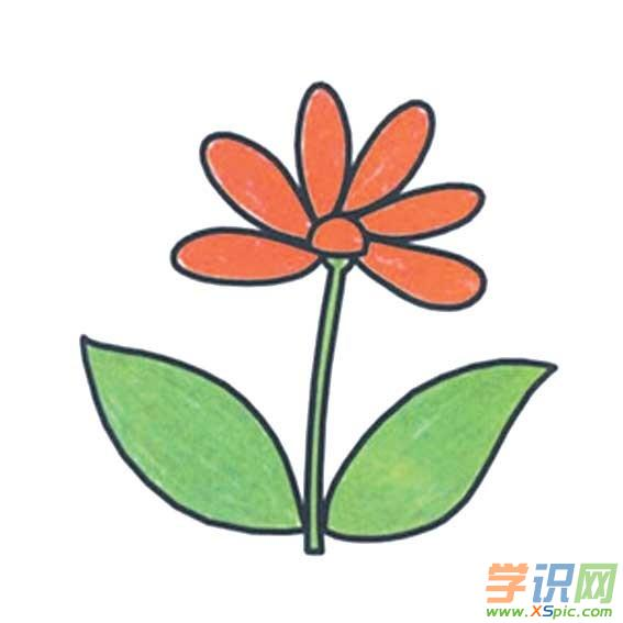 可爱卡通花朵简笔画 卡通花朵简笔画大全