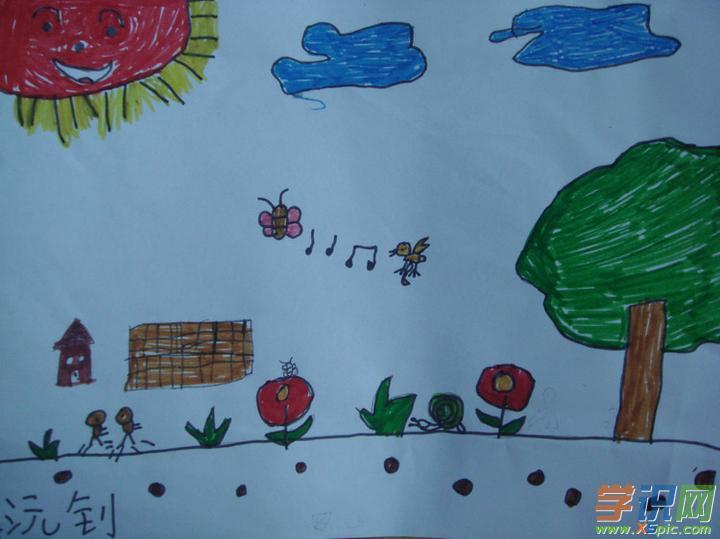 关于春天的绘画图片_春天的花园绘画图片图片