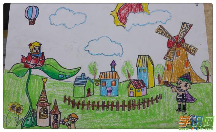 关于春天的绘画图片_春天的花园绘画图片