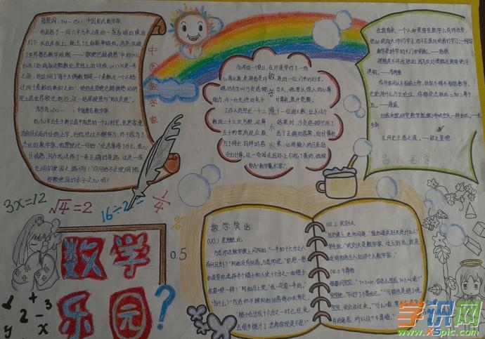 小学六年级数学王国手抄报