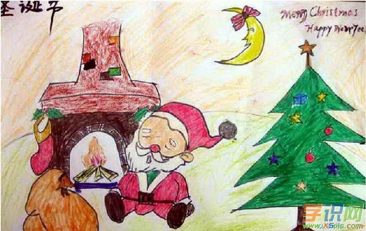 儿童圣诞节图画作品