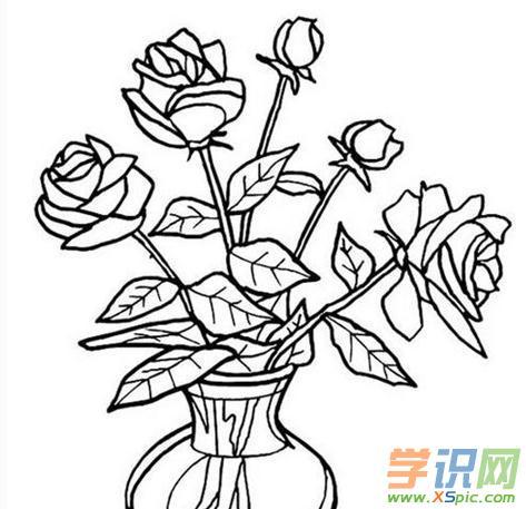 各种各样的花瓶简笔画 各种各样的花简