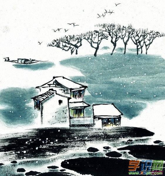 水墨江南风景画