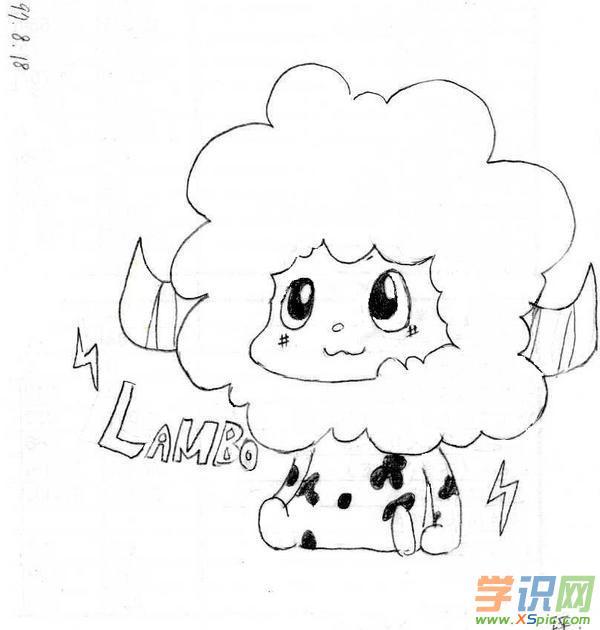 动漫简单铅笔画素描_卡通简单铅笔画素描