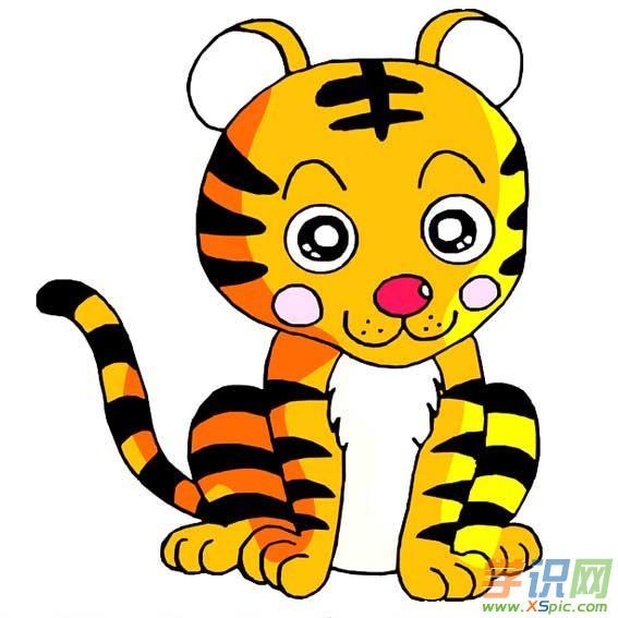可爱动物简笔画大全带颜色_小动物简笔画图片大全