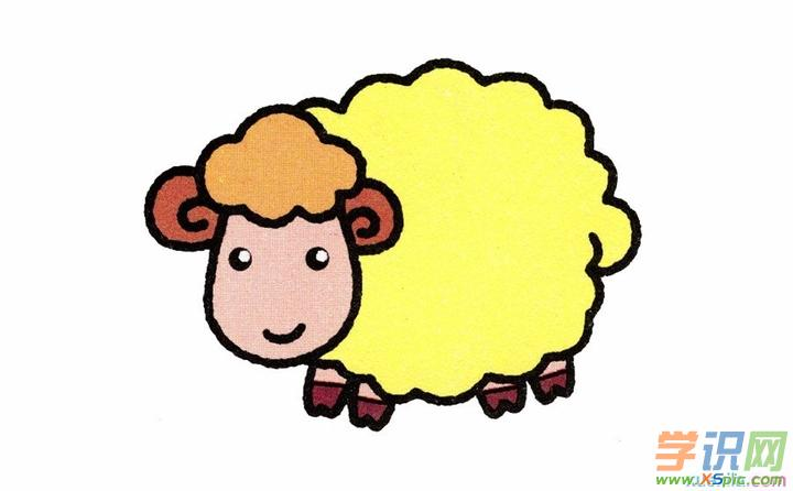 彩铅动物画绵羊教程