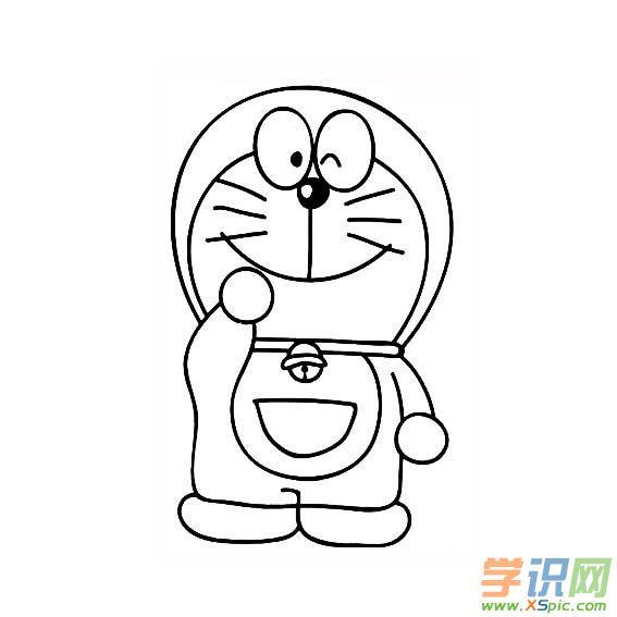 学识网 爱好 学画画 简笔画    哆啦a梦是一只来自22世纪的猫型机器人