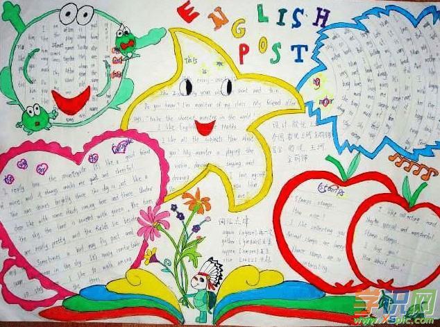 关于小学6年级英语手抄报样板图