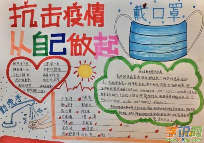 小学生抗击疫情手抄报内容 中国加油武汉加油疫情小报