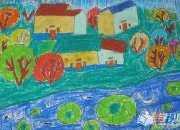 小学生美术风景画