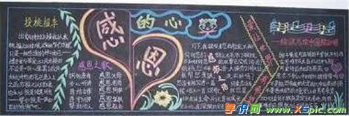 美觀整潔感恩父母的黑板報