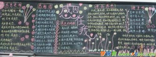 漂亮好看感恩父母的黑板报内容
