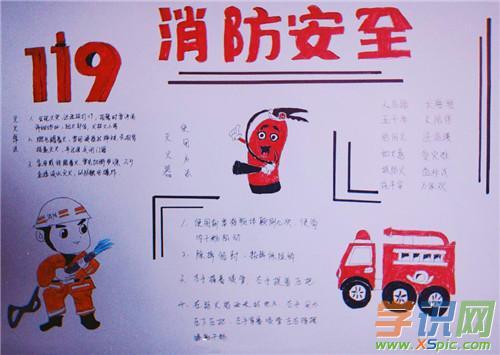 2020小学生简单消防手抄报画画