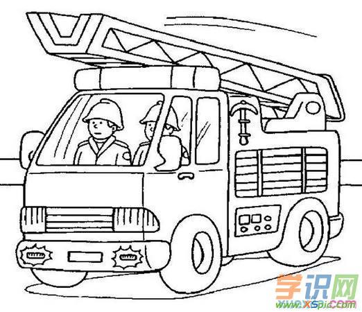 119消防车简笔画 消防车简笔画大全