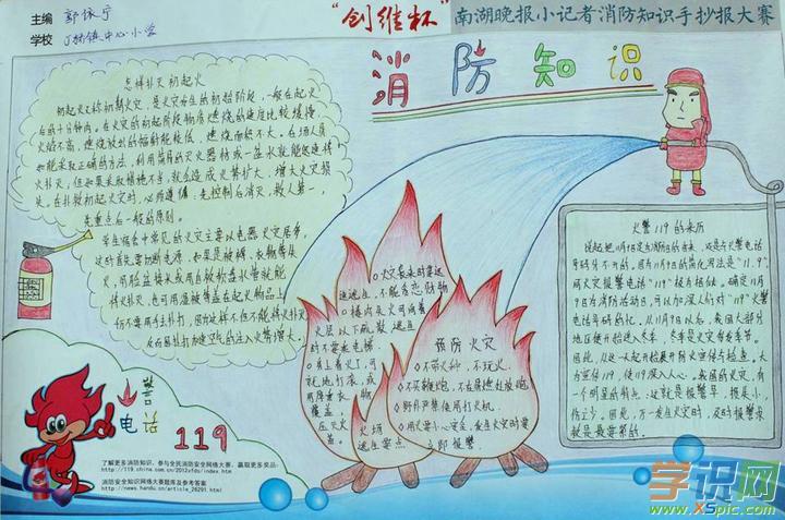 有关于小学生消防手抄报的资料