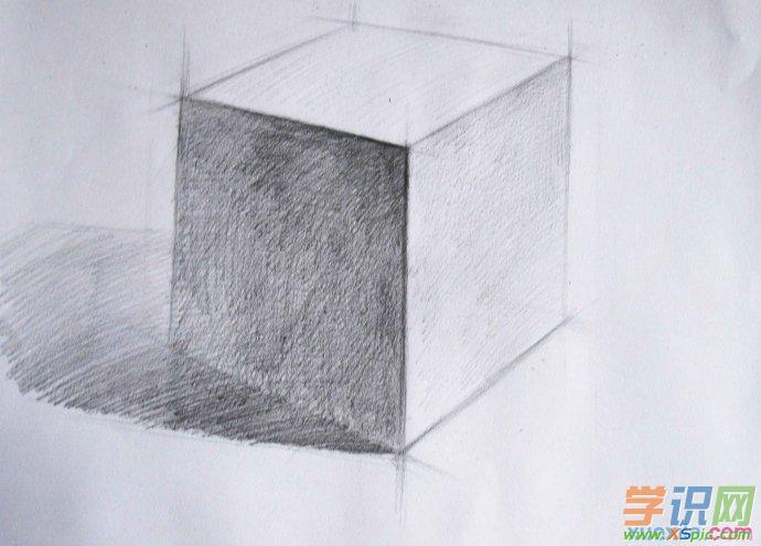 正方体的素描教程相关文章:  1.人物全身素描画法步骤    2.