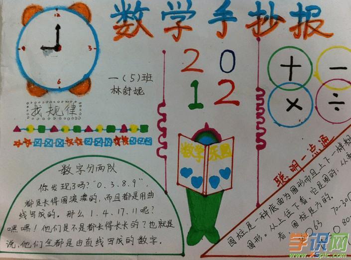 数学手抄报     1元=10角 1角=10分 1元=100分    时间单位换算    1图片