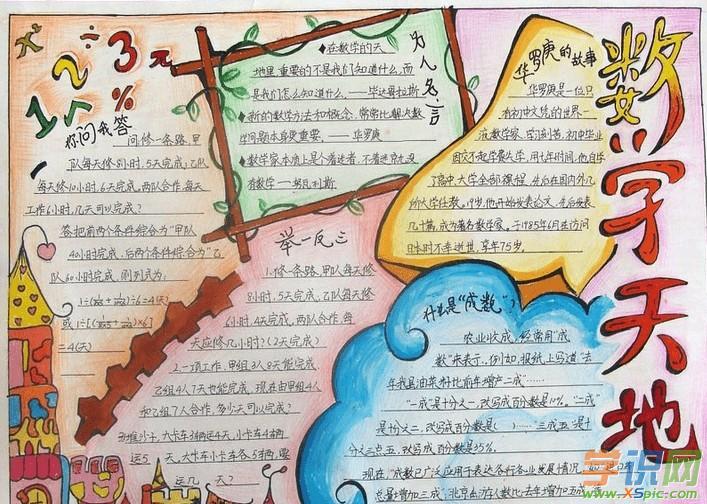 [六年級下冊數學練習題]六年級下冊數學手抄報內容