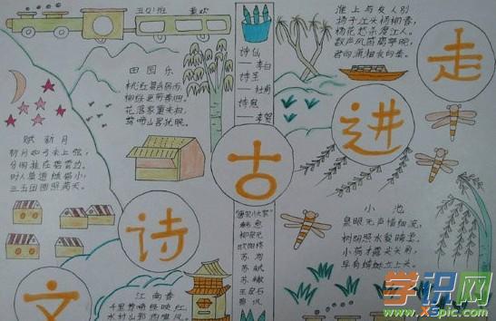 古诗词手抄报图片大全 关于二年级古诗词手抄报图片内容