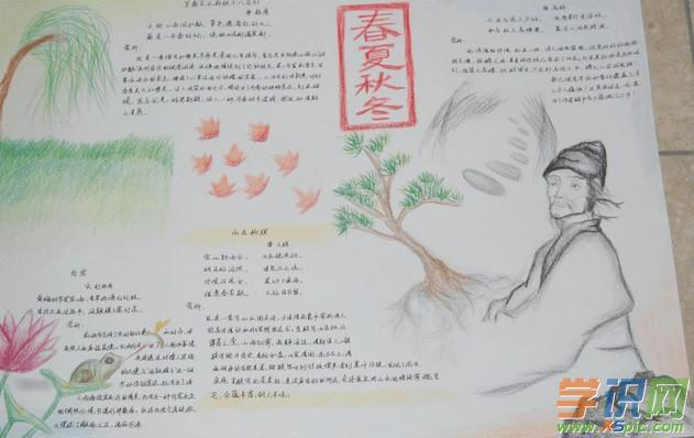 关于古诗词手抄报的模板设计