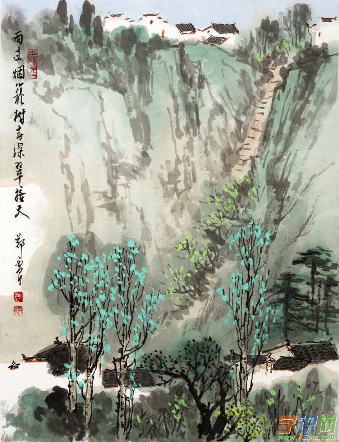 中国经典山水画图片大全图片