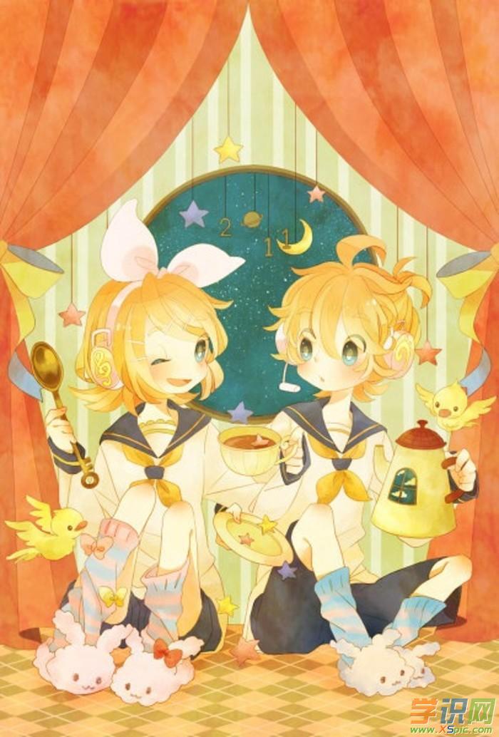 双子座卡通女孩图片    2.动漫女孩双子座图片    3.图片