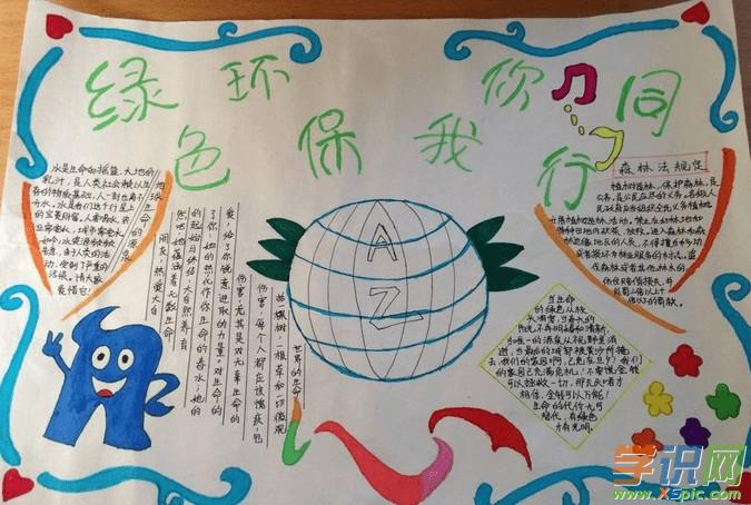学识网 语文 手抄报 环保手抄报     地球是我们的家园,我们要在这