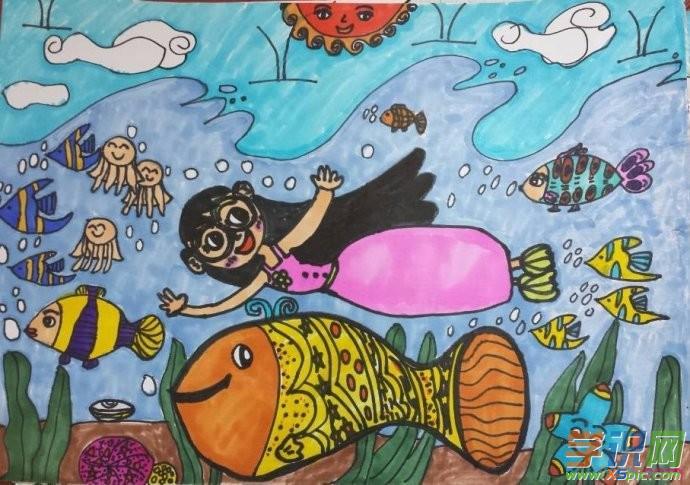 三年级小学生绘画_三年级小学生美术画