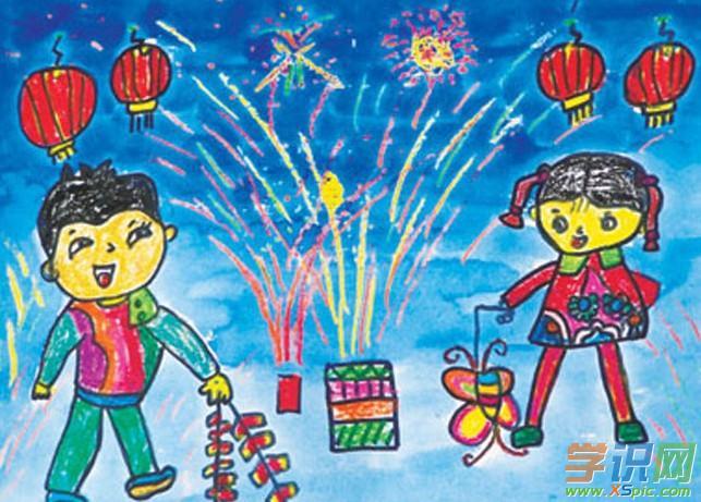 二年级春节图画大全_关于春节的图画二年级图片