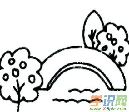 秋天简笔画图片 原野上 简笔画 查字典幼儿网儿童画