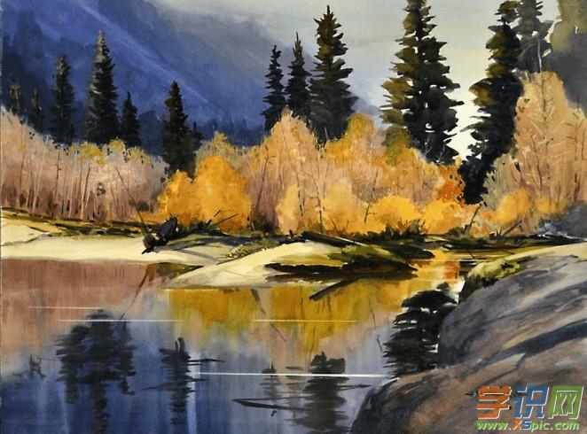 学识网 爱好 学画画 风景画     色调表现的艺术魅力在风景画中作为