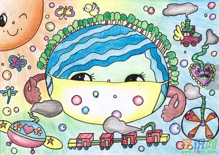 关于保护环境的绘画图片儿童_保护环境绘画作品图片