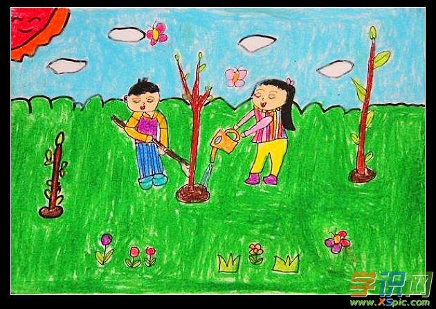 关于保护环境的绘画图片儿童_保护环境绘画作品