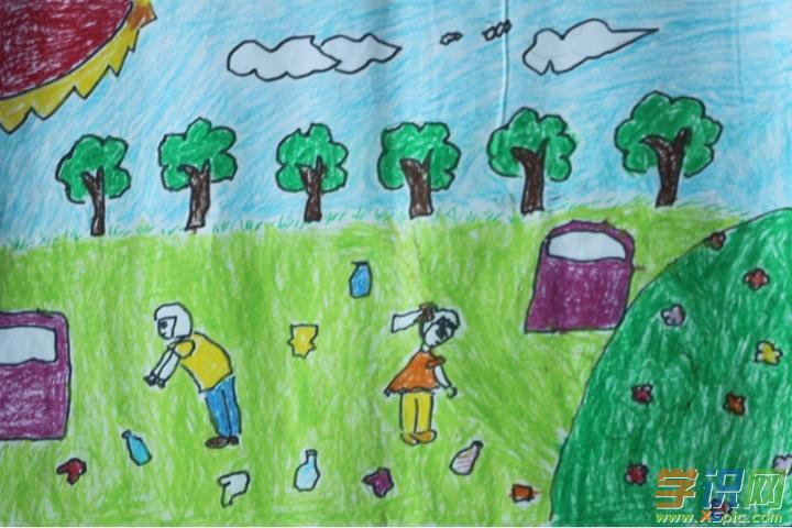 学识网 爱好 学画画 绘画知识     节约资源和保护环境要一代一代人持图片