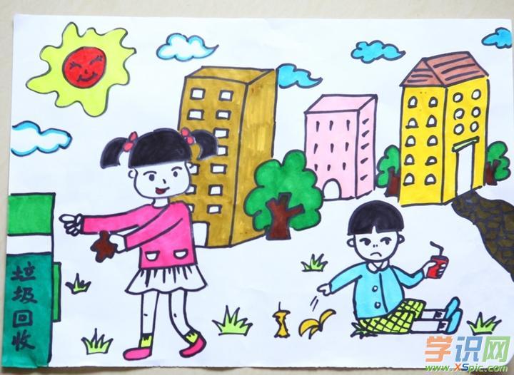 关于保护环境的绘画作品