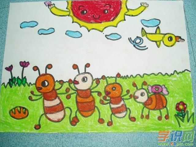 幼儿亲子绘画作品图片大全_幼儿园感恩节亲子绘画