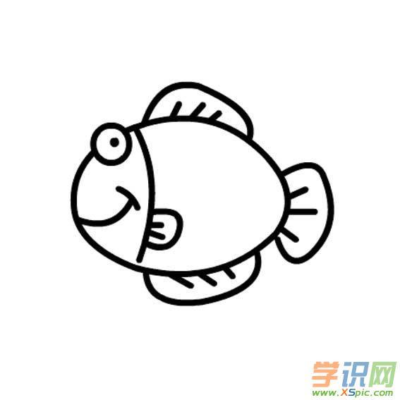 儿童简笔画可爱的鱼儿图片大全  2.儿童简笔画鱼的画法  3.