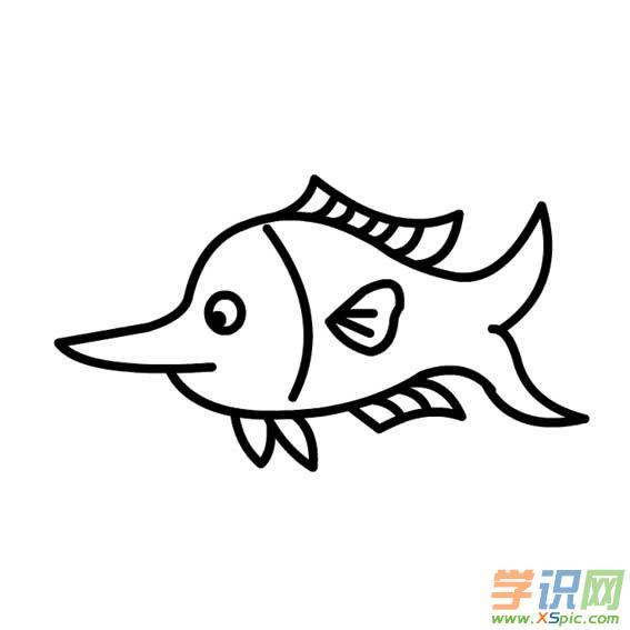 儿童简笔画海洋动物