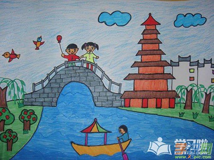 小学四年级绘画作品图片大全  2.四年级小学生美术作品  3.