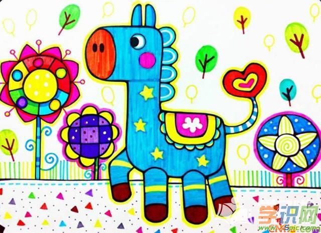 儿童动物画画图片作品