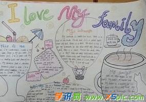 myfamily英语手抄报图片