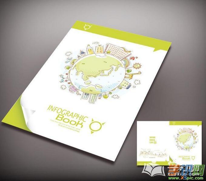 学识网 设计 工业设计 装帧设计 封面设计    宝贝成长档案手绘封面