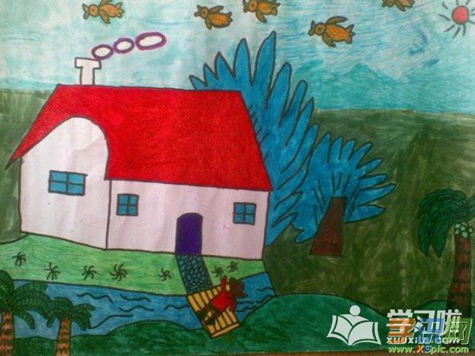学生美术风景画图片